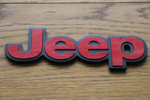 inscription-embleme-logo-sticker-jeep-rouge-vrai-metal-brillant-effet-relief