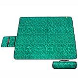 Couvertures de pique-nique Tissu imperméable extérieur de gazon de tapis de pique-nique Moistureproof 170 * 140cm ( Couleur : Vert )