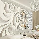 XY Fototapete YBZ042 - Wandverkleidung Stitching Stil Erleichterung Vlies Wand Tapete Wohnzimmer Schlafzimmer Büro Flur Dekoration Wandbilder Moderne Wanddeko Flower 100%, 416*254