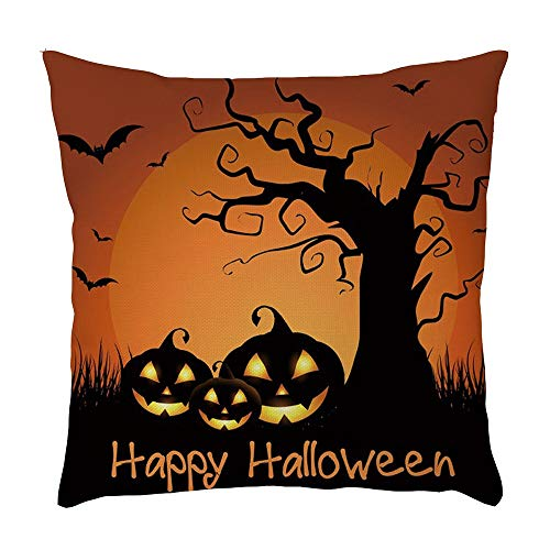 UYSDF Halloween Zuhause Auto Bett Sofa Dekorativ Brief Kissen Fall Polster Abdeckung,45 * 45 cm Kissenbezug