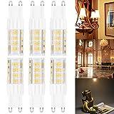 ARVIDSSON 6-Pack G9 LED Glühbirnen 6W (45W Halogen-Spotligh-Birnen gleichwertig) 3000K Warmweiss, G9 LED-Lampen, AC 220-240V, nicht dimmbar, CRI> 85 LED Energiesparlampen, 450Lm LED G9 Glühbirnen …