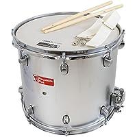 Percussion Plus PP789-SL - Tambor de nieve para niño (14 pulgadas), color plateado