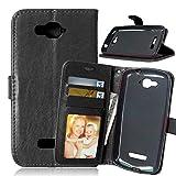 JEEXIA Funda para Alcatel OneTouch Pop C7 Moda Business Flip Wallet Case Cover PU Cuero con Soporte...