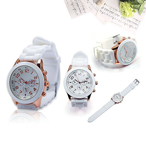 Abeillo Womens Mens Geneva Fashion Silicone Jelly Gel Watchband Quartz Wrist Watch Gifts