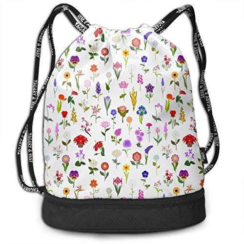 htrewtregregre Kordelzug Paket Your Garden Guide Drawstring Backpack For Mens And Womens, 100% Polyester Durable Gym Bag