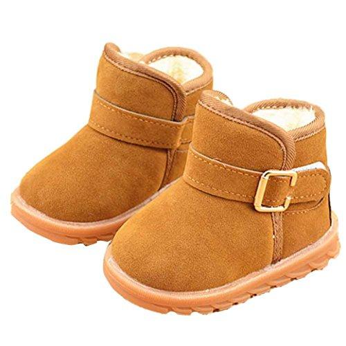 FEITONG Baby Winter Kind Mode Art Baumwoll Schuhe Stiefel Warmer Schnee Stiefel (5 ~ 6 Alter, Khaki) Khaki