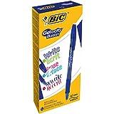 BIC Gelocity Illusion - Caja de 12 bolígrafos gel borrable color, azul