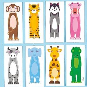Calcomanías de animales para dedos - Pack de 20 de Baker Ross