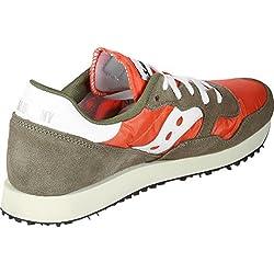 Saucony DXN Trainer Vintage, Zapatillas de Cross para Hombre, Verde (Olive/Orange 18), 41 EU