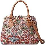 Signare Womens Fashion Canvas Tapestry Convertible Shoulder Handbag in William Morris Strawberry Thief Design