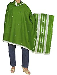 Tribal Art Design Shawl - Indian Embroidered Fashion Wrap for Girl, 84x36 Inch