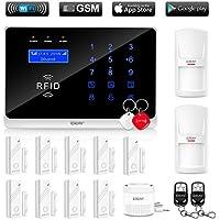 ERAY WM3FX WiFi GSM/3G Alarme Maison sans Fil Extensible Anti Intrusion, iOS/Android APP, SMS et Appel, RFID Cartes
