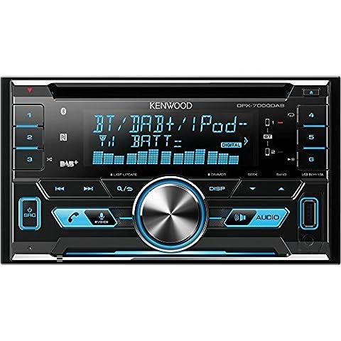 Kenwood DPX7000DAB Doppel-DIN-Receiver mit Apple iPod-Steuerung, Bluetooth-Freisprecheinrichtung und DAB+ schwarz