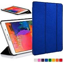 Forefront Cases funda de piel con tapa y función de apagado automático con función de encendido para 25,65 cm Samsung Galaxy Tab Pro - Black_P azul azul Galaxy Tab Pro 8.4