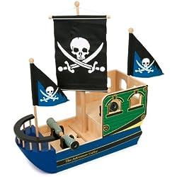 Barco pirata Calavera de juguete.