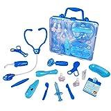 Malette Docteur Enfant Jeu Imitation Fille Garcon Avec Accessoires (Bleu)