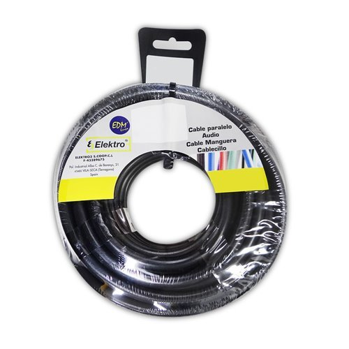 EDM Angelrolle cablecillo flexibel 6 mm schwarz 10 Mts. libre-halogeno