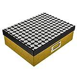 Goldbuch Aufbewahrungsbox, Off-line, 34 x 10 cm, Kunstdruck mit Leinenoptik, Schwarz/Gelb, 85607