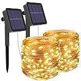 [2 Pack] Guirnaldas Luces Exterior Solar, Litogo Luces Led Solares...