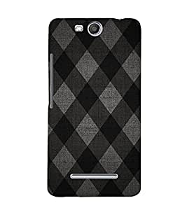 Diamond Pattern 3D Hard Polycarbonate Designer Back Case Cover for Micromax Canvas Juice 3 Q392