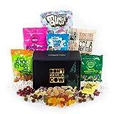 This Box Rocks Vegane Süßigkeiten-Geschenkbox mit 6 Tüten mit gelatinefreien Süßigkeiten in einer charismatischen Geschenkbox