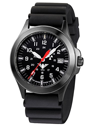 KHS Tactical Mens Watch Black Platoon Titan KHS.BPT.DB