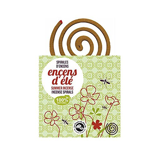 Les Encens du Monde - Encens d'ètè - Spirali Antizanzare 100% Naturali - Pack da 10