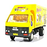 Mobile Back Van Vehicle Toy With Pull Back Action (Yellow)