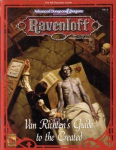 Van Richten's Guide to the Created (Advanced Dungeons & Dragons, 2nd Edition) by Teeuwynn Woodruff (1994-01-02) par Teeuwynn Woodruff