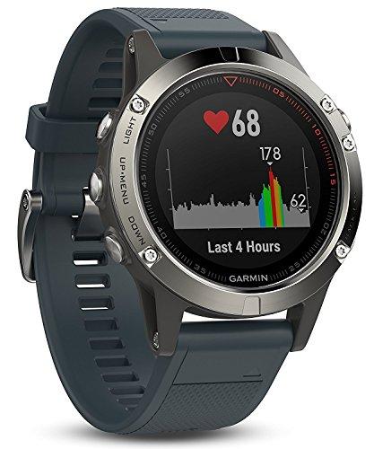 Garmin Fenix 5   Reloj Multideporte con GPS y medidor de frecuencia Cardiaca  Lente de Cristal y Bisel de Acero Inoxidable  47 mm  Plata/Gris Granito