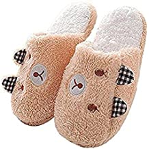 MHGAO da donna casual pantofole Papa Bear Cartoon Fashion interni cotone sandali, 1, M