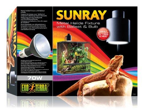 Exo Terra PT2325 Sunray Beleuchtungskomplettset inklusive 70W Metalldampflampe