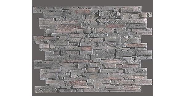 Idea pannelli pietra rigenerata pannello decorativo slate flag grey