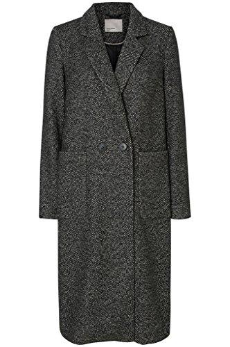 Vero Moda Lana -Tyra cappotto lungo inverno le donne, Nero, M 40