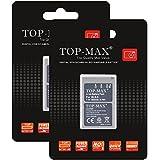 TOP-MAX® 2x BLS-5 Li-ion Batería para Olympus PS-BLS5, OM-D E-M10, PEN E-PL2, E-PL5, E-PL6, E-PM2, Stylus 1
