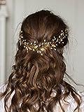 Accesorio para el pelo, de FXmimior, con diseño de hojas, para bodas y fiestas