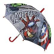 Marvel Avengers 2400-344 Ombrello, Apertura Automatica, Diametro 78 Centimetri, Bambino, Poliestere, Multicolore, Captain America, Iron Man, Thor, Hulk