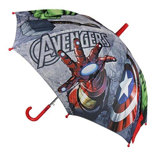 Cerdá Avengers, Paraguas para Niños (Negro 001), One Size (Tamaño del Fabricante:única)