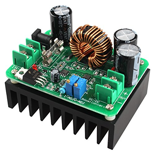 HALJIA DC 600W 10-60V zu 12-80V Boost Converter Wandler Konverter Step-up Modul 10A Car Auto DC zu DC Power Supply Module 600w Car-audio