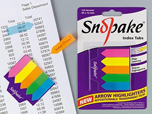 Snopake - Caja de flechas separadoras (12 unidades, 44 x 12 mm), multicolor