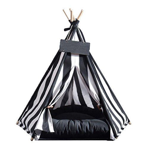 MEIQI Tipi Hund, Faltbare Waschbare Teepee Tent Hundebett Hundehöhle für Hunde Welpen Katze , 50*50*60CM