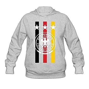 XJ-cool Germany Soccer Flag Women's Athletic Sweater Ash XXL