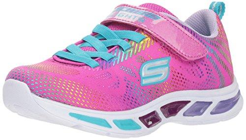 16eec0a79c8 Skechers 10959N S Lights  Litebeams - Gleam N Dream Girls Trainers 26 Pink  Multi