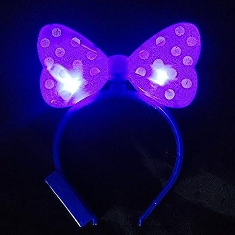 Halloween Costume Led Minnie Mouse - WTB Light Up Nœud Papillon LED clignotant