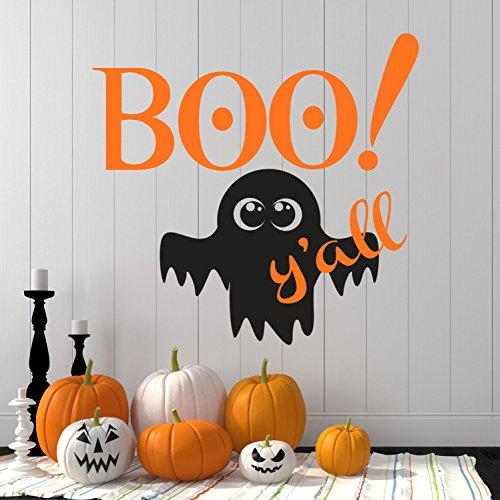 43SabrinaGill Halloween Aufkleber Boo Ya 'll Halloween Wand Aufkleber Ghost Deca, Haunted House Halloween Decor Halloween Party 121,9x ()
