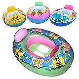 Hinmay, Salvagente gonfiabile per bambini, per piscina e mare, salvagente con sedile per aiuto e allenamento al nuoto