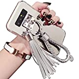 TAITOU Galaxy S5 Neo/G903 G900 Mirror Case, Beautiful Hand Sling Anti-Slip Strap Tassel Luxury Shiny Make-Up Mirror Thin Cover, Awesome Ultralight Slim Phone Case for Samsung Galaxy S5 Silver