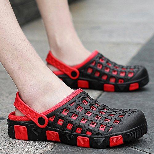 En été, Baotou, chaussons chaussures trou, amoureux paresseux, cool, la moitié de la RDP RDP, chaussures antidérapantes pour hommes sandales de plage, salle de bains, 626- black