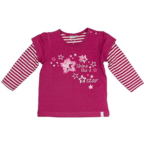 SALT AND PEPPER Baby-Mädchen Sweatshirt B Sweat Princess 2in1, Pink (Berry Melange 877), 92