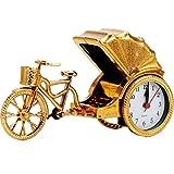 NNIU-AL Retro Fahrrad Wecker Persönlichkeit Mute Wohnkultur für Wohnzimmer, Schlafzimmer (Farbe : Gold)